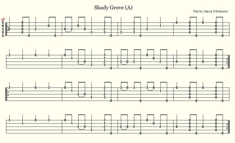 Northern Banjo Boy: Shady Grove